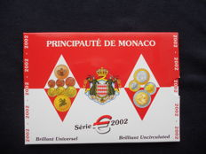 Monaco - year pack/ year collection of Euro coins 2002