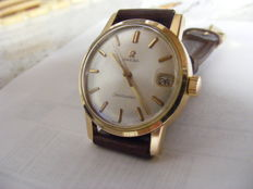 "Omega ""Seamaster"" men's watch, rose gold-plated, circa 1960s"