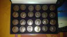 France - Series of 24 'Monnaies Romaines' medals - bronze