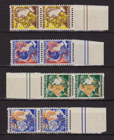 The Netherlands 1932 - Double-sided syncopated - NVPH R94/R97 in pairs