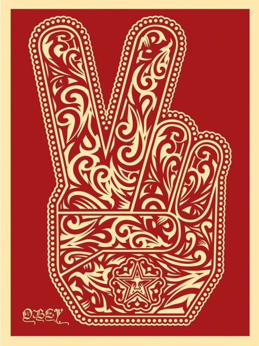 Shepard Fairey (OBEY) - Peace Fingers