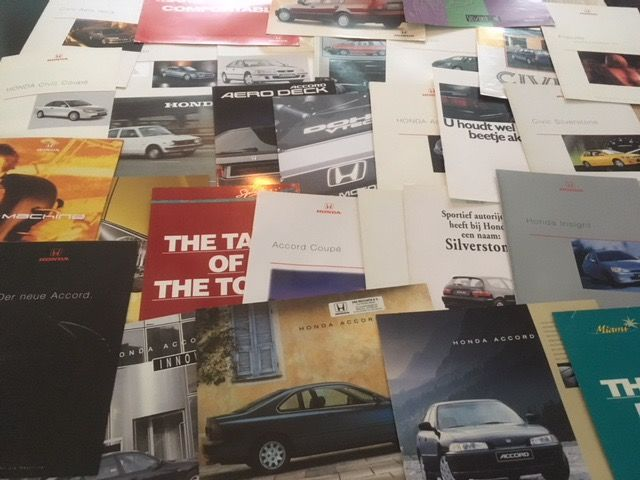 Honda car brochures 32 pieces