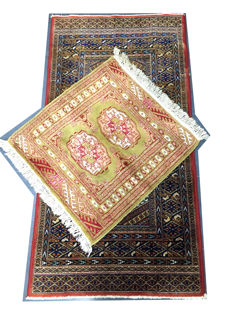 Lot of 3 small antique rugs