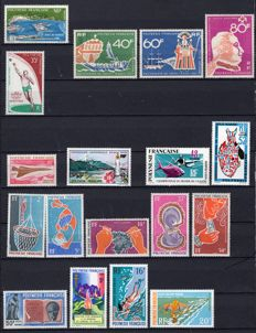 French Polynesia 1958/1984 - Set of postal stamps between No. 1 and No. 183 and OCEANIA Yvert P. A. 28