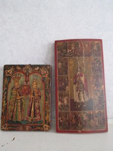 Two Romanian icons, wood - 1st half of the 20th century