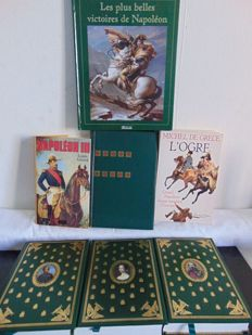 Seven Napoleon books - Michel de Grece, Louis Girard, Patrick Facon and other authors