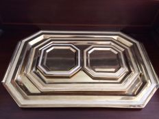 Melarti serving trays and coasters, Art Deco style.