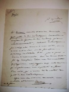3 signed autograph letters 1811 Count Mollien 1st Counsellor and Minister of the Treasury of Napoleon