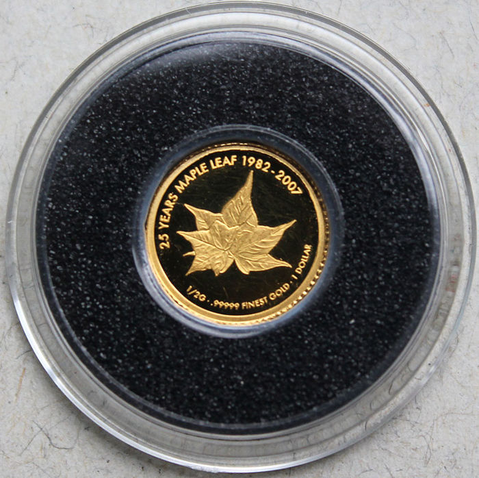 Cook Islands - 1 dollar 2007 '25 Years Maple Leaf' - gold