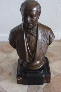Ernst Gustav Herter (1846-1917) - Gladenbeck foundry - bust made of bronze - Berlin, Germany - ca. 1900