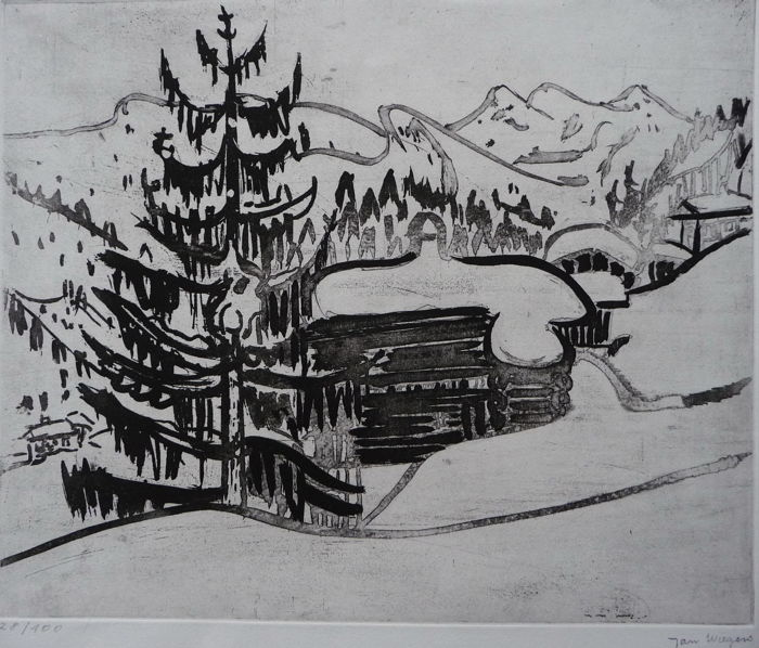 Jan Wiegers (1893 - 1959) - Chalet in Zwitserland