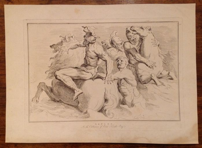 """Raymond Lafage (1654- 1690) - from """"Passaggio del Mar Rosso"""" - anonymous engraver - 19th century"""
