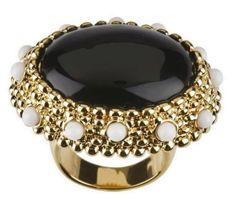 Kenneth Jay Lane - Yellow gold plated big & bold statement Ring