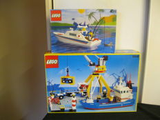 Town - 6541 and 4011 - Lego Intercoastal Seaport - Lego Cabin Cruiser