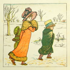 Mrs. Barker - Kate Greenaway's Birthday Book for Children - ca. 1890