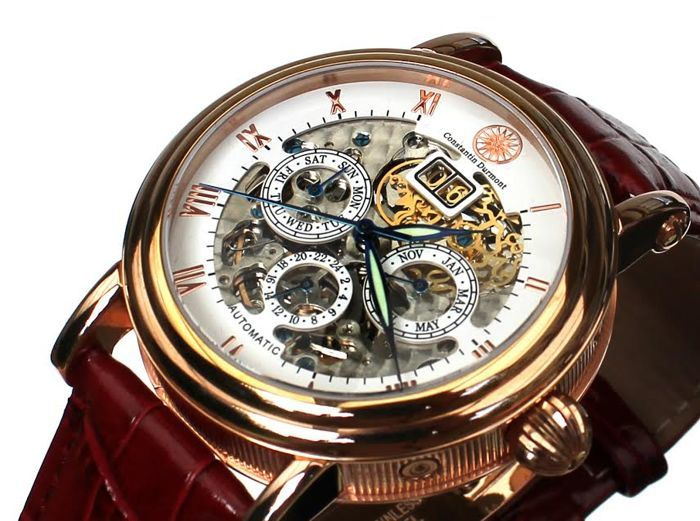 14896041 Constantin Durmont Skeleton Automatic Gold Plated Men S 2017 on 5507 197