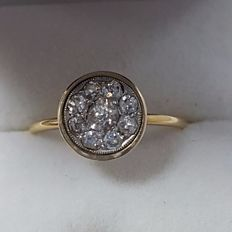 Ring - 18 kt Gold - Diamonds