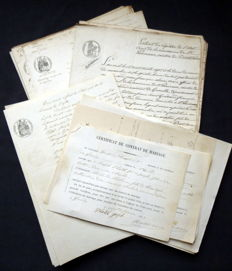 Department of Isère; Collection of old civil status documents - 50 documents - 1857/1858