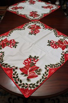Two beautiful Christmas tablecloths