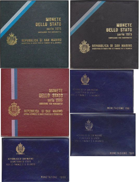 San Marino - Lot of 6 UNC Divisionals in Mint Packaging