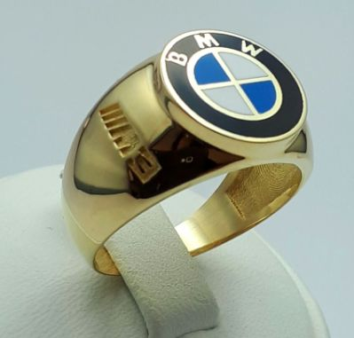 14585 Ct Yellow Gold BMW Ring, Size 20.00mm, Total 6.85g