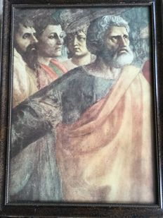Framed fragment on paper of the Tribunal - Masaccio - Italy