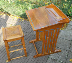 Torck vintage children's desk with stool, 1950s