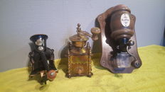 Three different coffee grinders