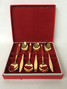 Van Kempen & Begeer - 6 gold-plated spoons in box