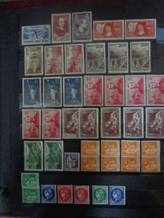 France 1937/1939 - Stock of stamps by unit and multiple - between Yvert no. 334/450