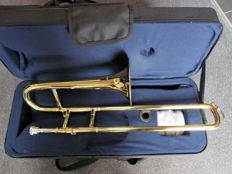New ChS Bb smaller trombone with hard foam case