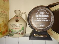 2 decanters - Barrel Old St Andrews 1982 & Edradour 10 years old