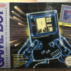 Gameboy Classic with tetris boxed.