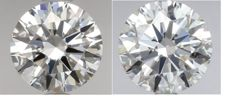 Pair - Round Brilliant Diamonds 1.40ct total D IF  GIA - Low Reserve Price - # 2290-2210