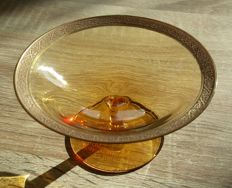 Moser - Glass Bowl, Etched Signed -