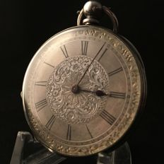Silver pocket watch - Silver dial - Unisex - ca. 1910