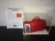Muhammad Ali (RIP) / Official Hand Signed Everlast Boxing Glove in New Display Case + Certified Letter of Authenticity PSA/DNA!