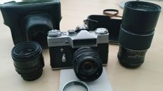 Zenit-E single-lens reflex camera for roll film