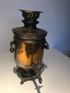 Imperial Samovar with prices dated stamps and stamp of the imperial Eagle - Russia - end 19th century
