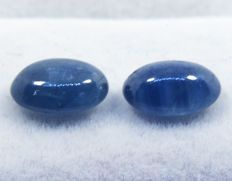 Sapphires (pair)  – 3,39 ct  total, No reserve price