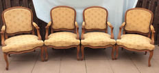 Four Louis XV style Armchairs, begin 20th century