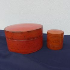 "Two betel boxes ""Kun It"" lacquer boxes - Birma - early 20th century"