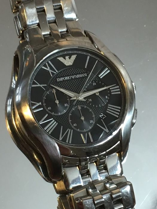 "EMPORIO ARMANI  AR-1786  ""Chronograph""  – men's dress watch – 2017  -- used, in mint condition."