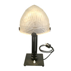 Table lamp with butterfly motifs, original Art Deco