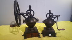 Two Elma coffee grinders
