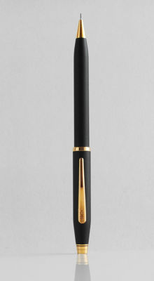 Cross Classic: lava black pencil with gold plated parts, high-tech styled, elegant design (C016)