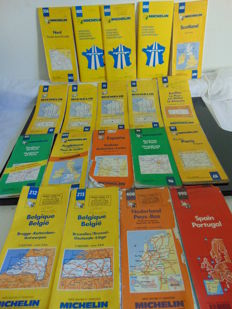 Lot of 46 road maps of France and other countries - Michelin and other brands - 1980 / 1999