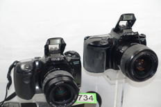 2 x Minolta Dynax 500si and Dynax 3xi with Minolta lenses