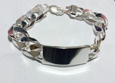 New, solid 925 silver bracelet made in Italy, 108 g