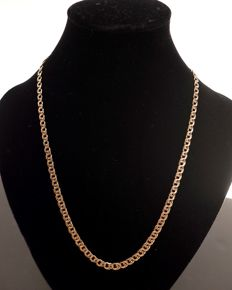 Necklace 18 kt yellow gold vintage signed
